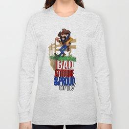 Bad Attitude Cowboy Long Sleeve T-shirt