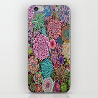 succulents iPhone & iPod Skins featuring Succulents by gwolly