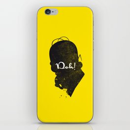 Doh – Homer Simpson Silhouette Quote iPhone Skin