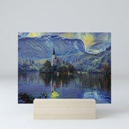 Lake Bled The Starry Night Vincent van Gogh Mini Art Print