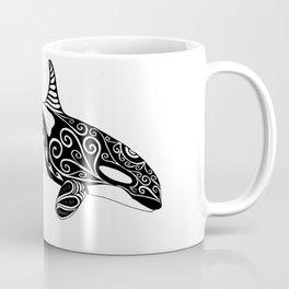Orca - Hand drawn black and white Coffee Mug