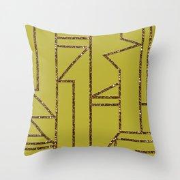 Ladders B (yellow) Throw Pillow