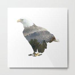 Eagle Mountain Silhouette Metal Print