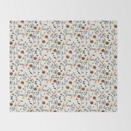 Floral pattern Flowers Throw Blanket