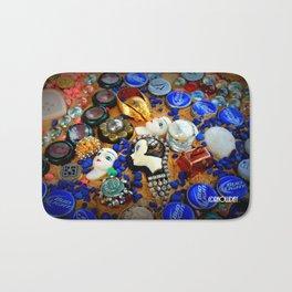 Azure Mosaic Bath Mat