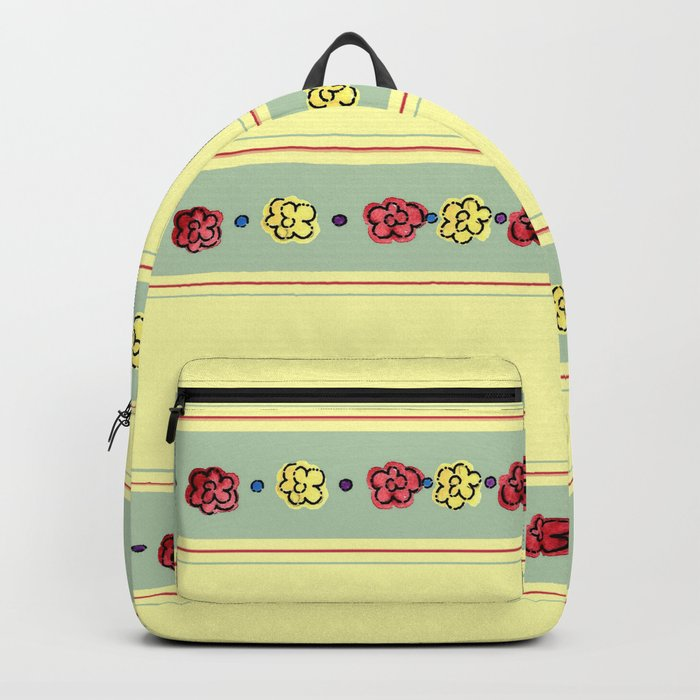 A Rosey Outlook Yellow Backpack