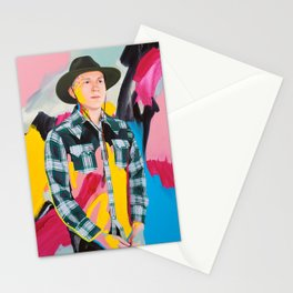Brian with pink, blue and yellow Stationery Cards