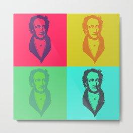 Ach du meine Goethe - Pop Art Metal Print