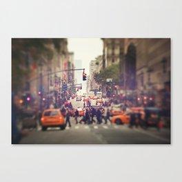 Down the Avenue Canvas Print