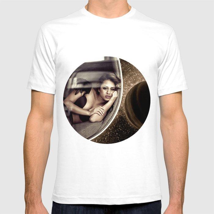 Sad walk in Space T-shirt