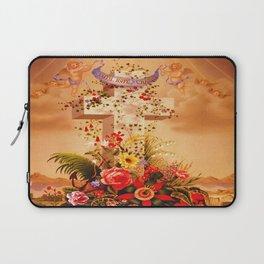Faith Hope Charity - Christian Cross Laptop Sleeve