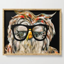 Hipster Owl Serving Tray
