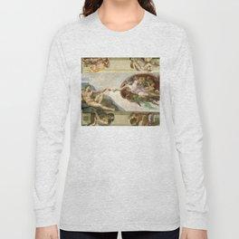 """Michelangelo """"Creation of Adam"""" Long Sleeve T-shirt"""