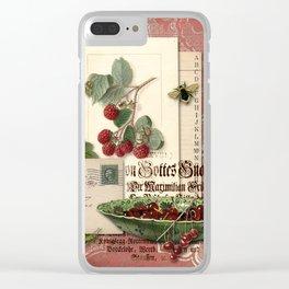 Raspberry Clear iPhone Case