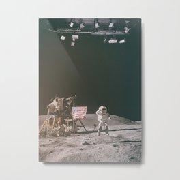 Moon Landing - Stanley Kubrick outtakes Metal Print