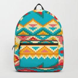 Aqua Native Aztec Backpack
