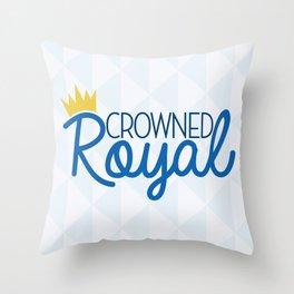 Crowned Royal Throw Pillow