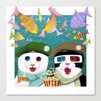 3d Canvas Prints featuring 3D by Tummeow