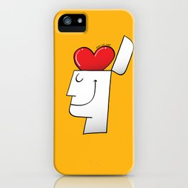 A Heart in my Head iPhone Case