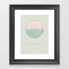 ostseeliebe Framed Art Print