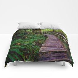 Walks through the Rainforest on Vancouver Island, Canada Comforters