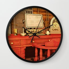 Steampunk Office Wall Clock