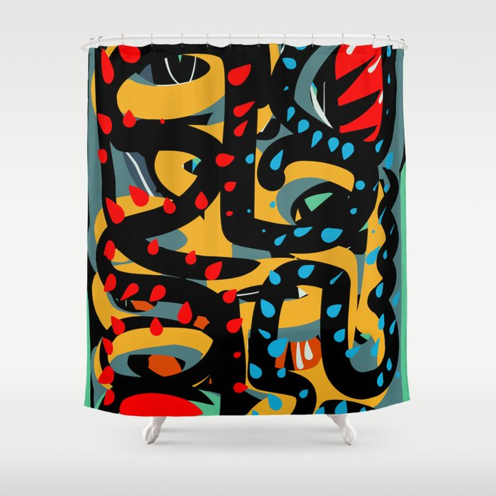 Energy Flow Abstract Art Life Shower Curtain