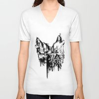 howl V-neck T-shirts featuring Howl  by Jane Moore Art
