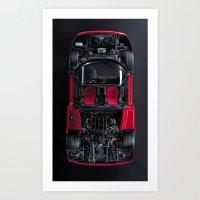 Super Car Frame Body Art Print
