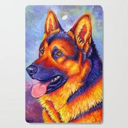 Colorful German Shepherd Dog Cutting Board