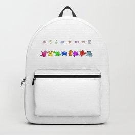 8 DigiMonsters with Crest Symbols Backpack