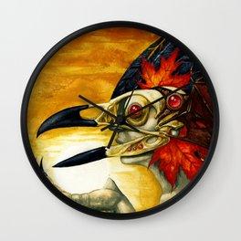 Raptor: Corvus Wall Clock