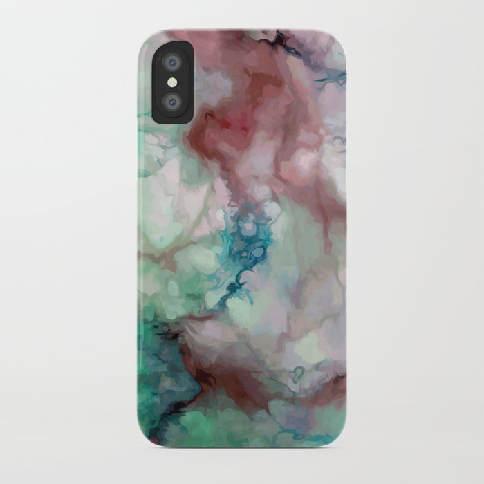 timeless design 9d6cf ae346 Colorful watercolor marble iPhone Case by catyarte