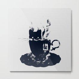Having Tea With my Lovely Cat Metal Print