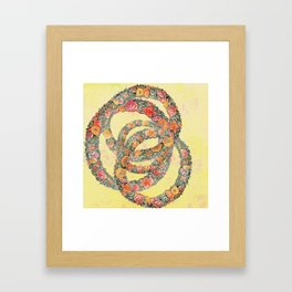 The consolation in a flower Framed Art Print