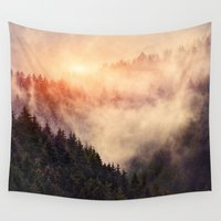fog Wall Tapestries featuring In My Other World by Tordis Kayma