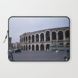 Vintage Color Photo * Verona Arena * Italy * 1950's * Antique Cars * Bus *Italian Laptop Sleeve