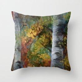 Birch Trees - III Throw Pillow