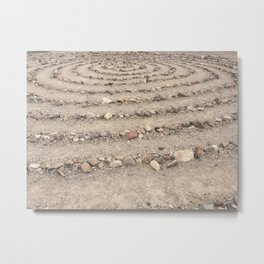 Stone spiral Metal Print