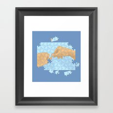 I'm puzzled Framed Art Print