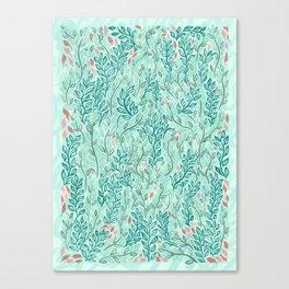 Blue Leaves Canvas Print