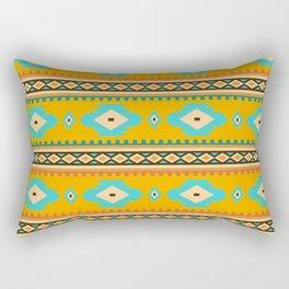 Bohemian mustard pattern. Turquoise diamonds Rectangular Pillow