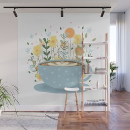Floral Coffee Wall Mural