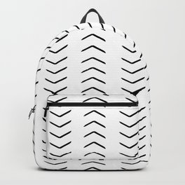 african mudcloth, chevron arrows Backpack