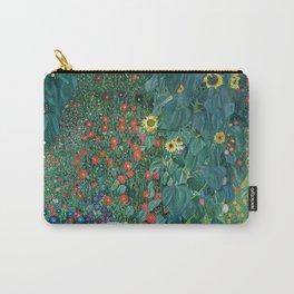 "Gustav Klimt ""Farm Garden with Sunflowers"" Carry-All Pouch"