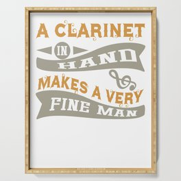 A Clarinet in Hand Makes a Very Fine Man Serving Tray