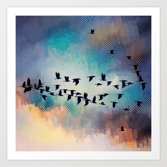 Flock Together Art Print