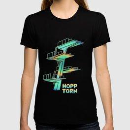 Diving Tower Retro Vector T-shirt
