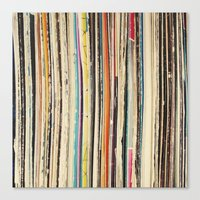 record Canvas Prints featuring Record Collection by Cassia Beck