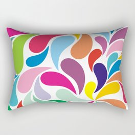 Rainbow colorful paisely on white Rectangular Pillow
